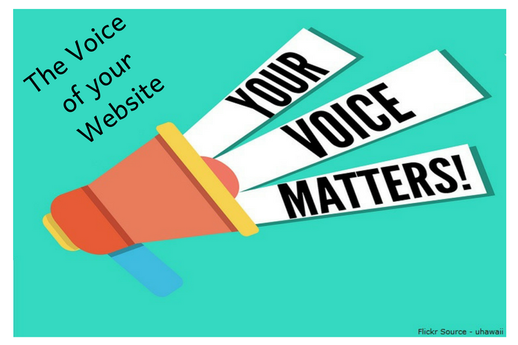 The Voice of your Website