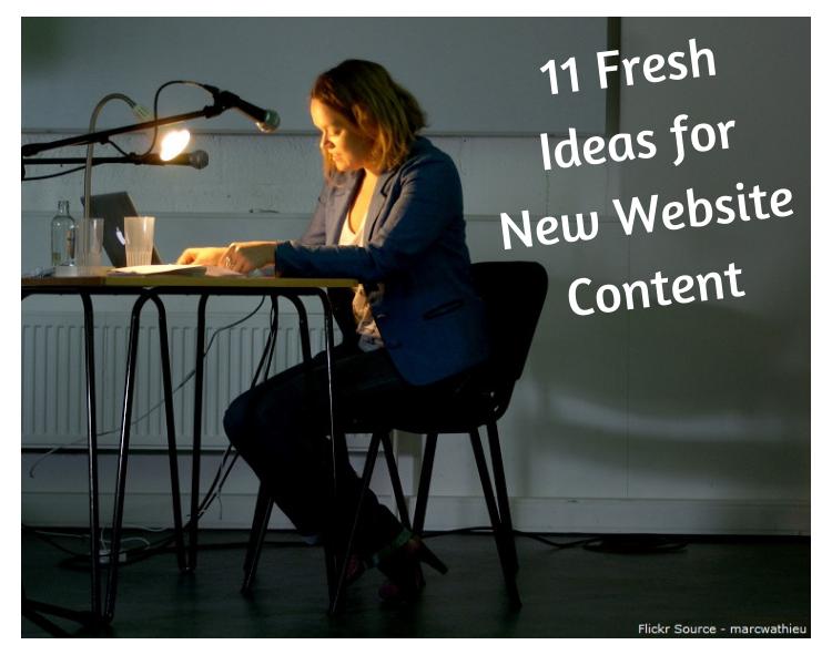 New Website Content