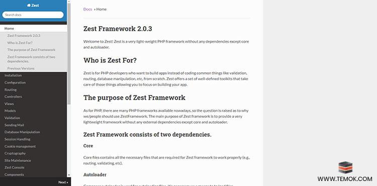 Zest Framework