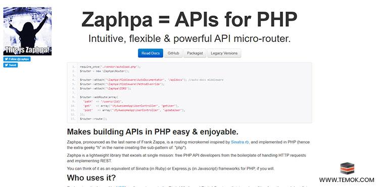 Zaphpa Framework