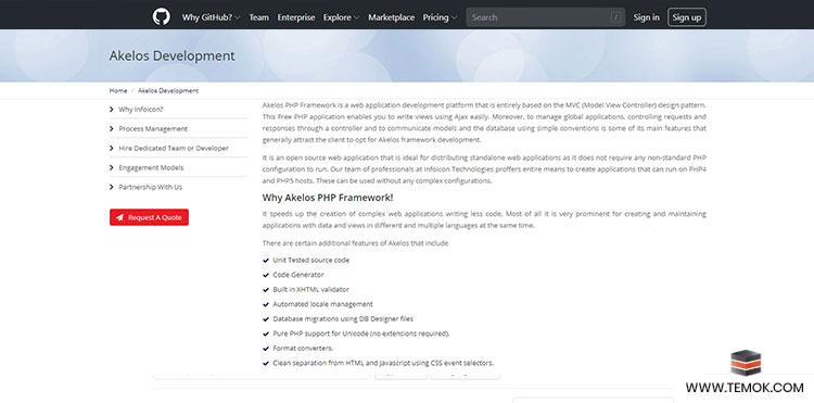 Akelos PHP framework