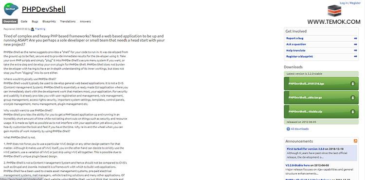 PHPDevShell Framework