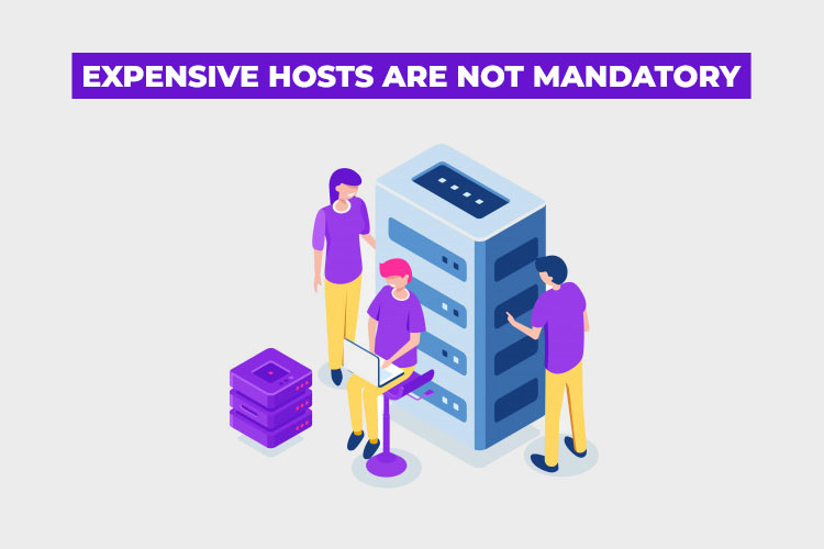 How to choose Web Hosting: expensive hosts are not mandatory