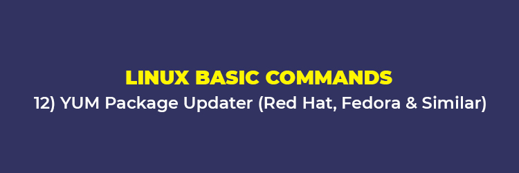 Linux Basic Commands: YUM Package Updater (Red Hat, Fedora, and the similar)