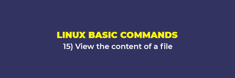 Linux Basic Commands: View the content of a file