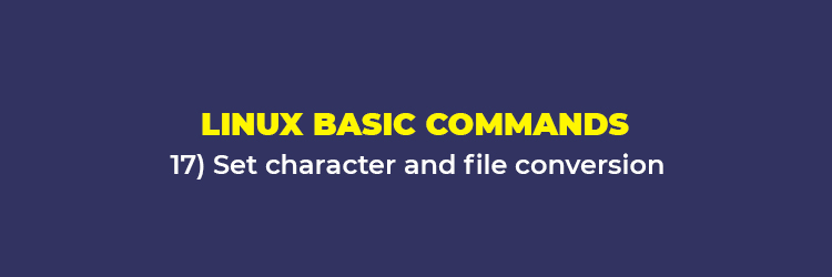 Linux Basic Commands: Set character and file conversion