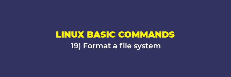 Linux Basic Commands: Format a filesystem