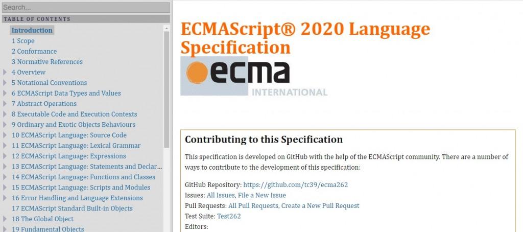 ECMA-262 Standard