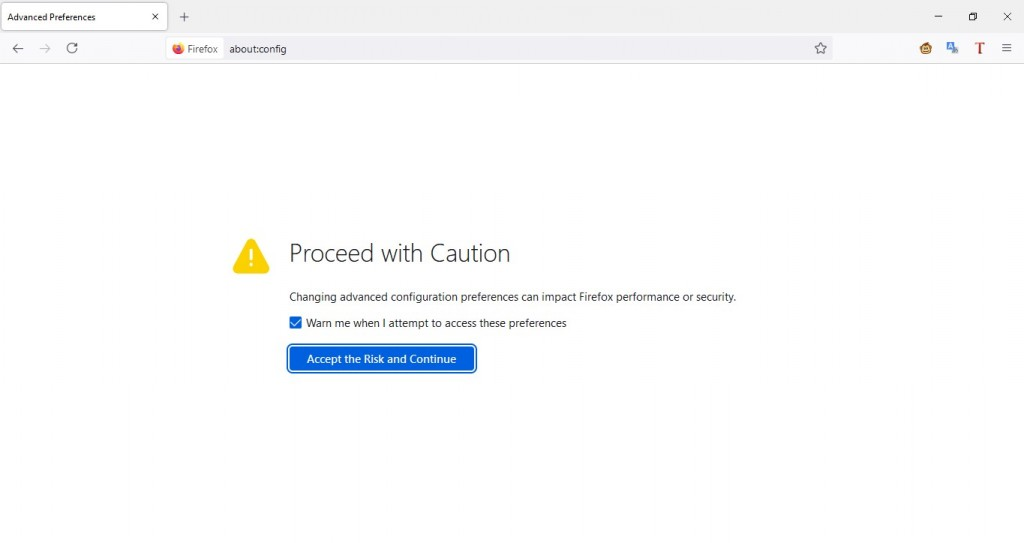 Firefox: Proceed with caution