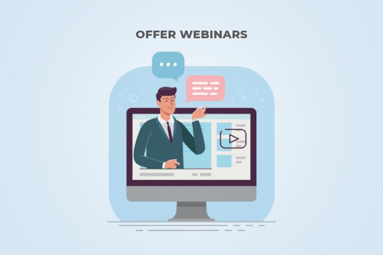 Offer Webinars: