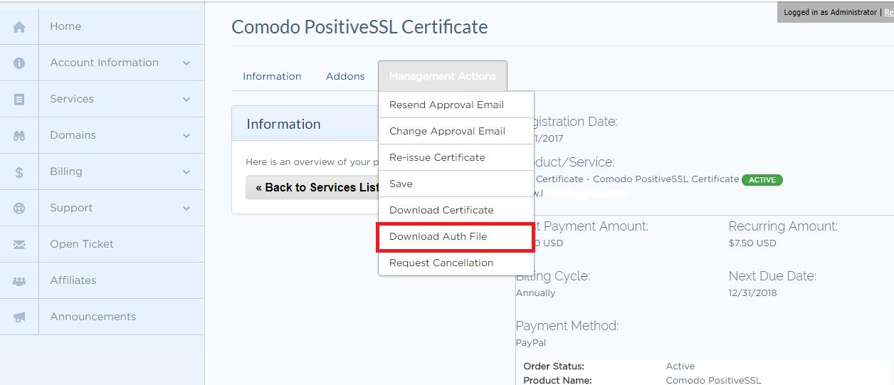 SSL validation steps - Knowledgebase - Temok IT Services